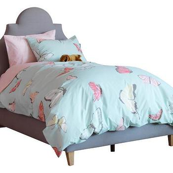 Pink And Purple Butterfly Print Bedding