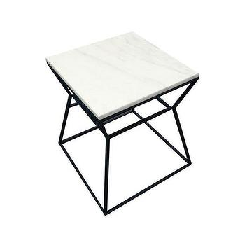 Andrea Marble Iron End Table