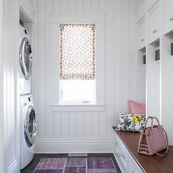 Mudroom With Beadboard Trim Transitional Laundry Room