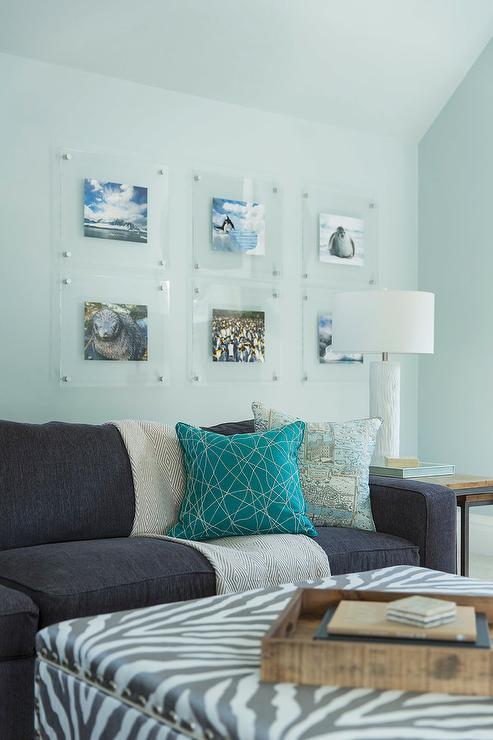 view full size - Zebra Storage Ottoman - Contemporary - Living Room - Weitzman
