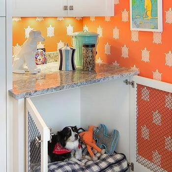 Window Seat With Dog Crate Design Ideas