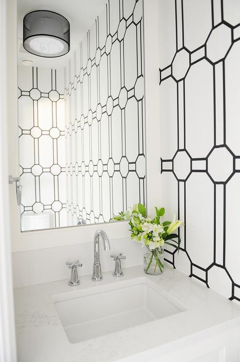 Polished Nickel Gooseneck Powder Room Faucet Design Ideas