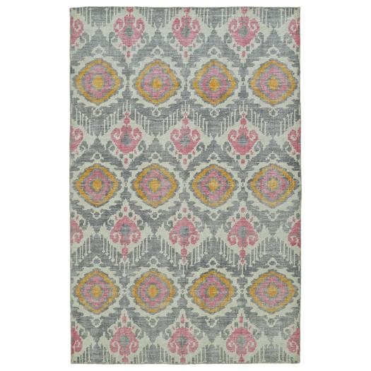Bungalow Hand Knotted Grey Area Rug