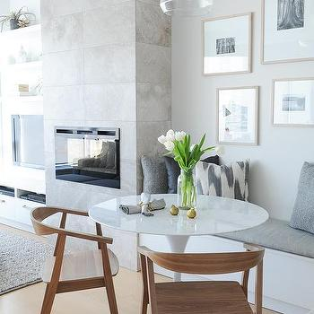 Dining Bench Next To Fireplace