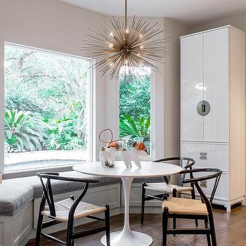 bay window dining room modern bay window dining bench ikea ingatorp table with ghost chairs contemporary