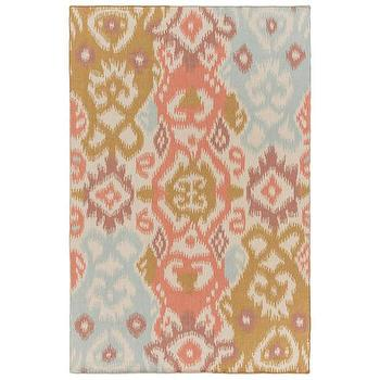 Bungalow Rose Coral Mocha Area Rug