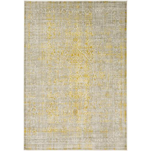 annin yellow weathered area rug