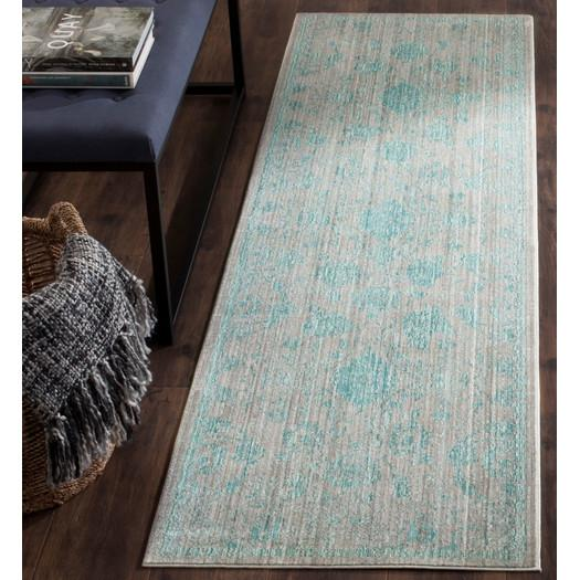 Blue Teal Persian Style Rug