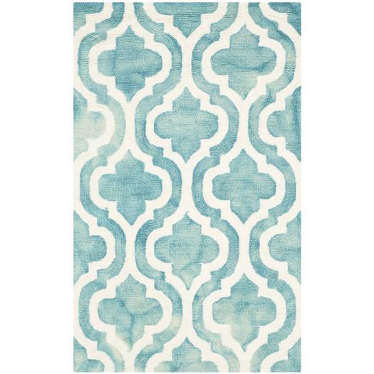 Fairfax MoroccanTurquoise Ivory Area Rug