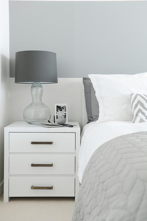 gray striped bedroom accent wall contemporary bedroom