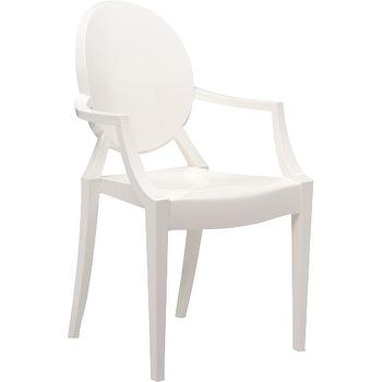 Superbe Kartell LOuis Ghost Arm Chair White View Full Size