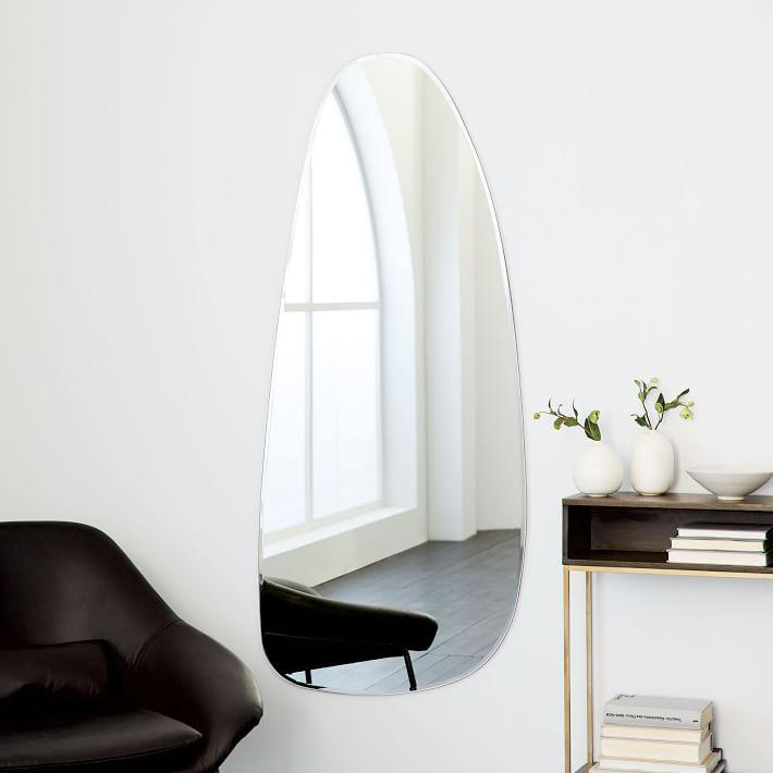 Frameless Asymmetrical Wall Mirror