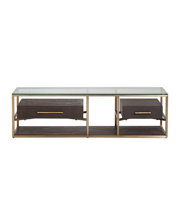 Hooker Furniture Vedetta Drawer Coffee Table - Coffee table with drawers and shelf