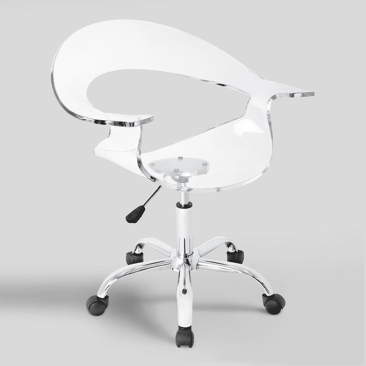Fabulous Clear Acrylic Swivel Bucket Office Chair Alphanode Cool Chair Designs And Ideas Alphanodeonline