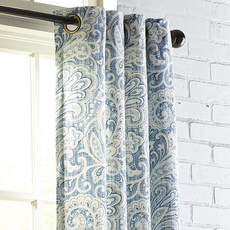 Seasons Paisley Indigo Curtain