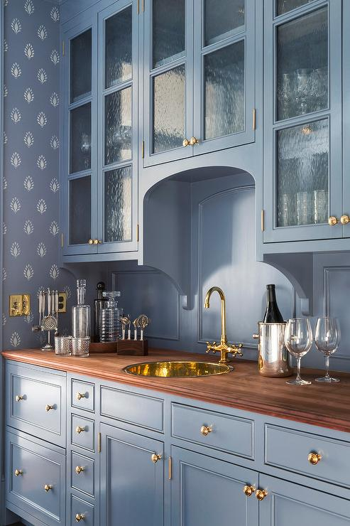 Kitchen Cabinets With Seeded Glass Doors