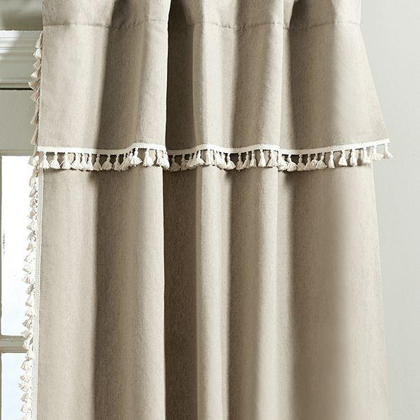 Tassel Taupe Drapery Panel Set