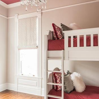 Girls room crystal chandelier design ideas gray and red girls bedroom with red ceiling aloadofball Choice Image