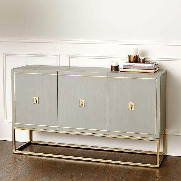 Harper Gray Gold Sideboard