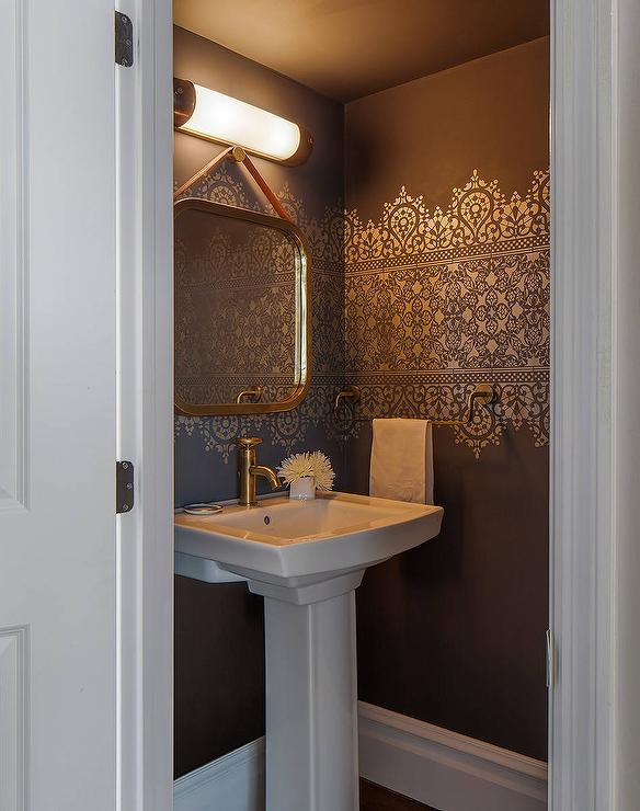Interior design inspiration photos by artistic designs for for Powder room color ideas