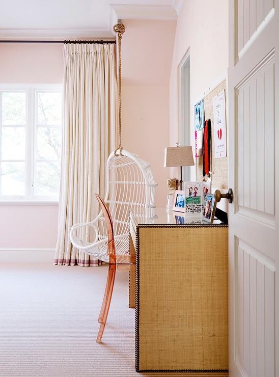 Burlap curtains design ideas for Catty corner bedroom ideas