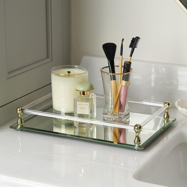 emmie mirror tray - Bathroom Accessories Vanity Tray
