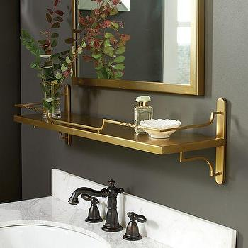 Wayfair Bathroom Vanity >> Bastille Gold Wine Shelf