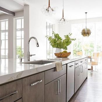 Calacatta Quartz Kitchen Island Top Design Ideas
