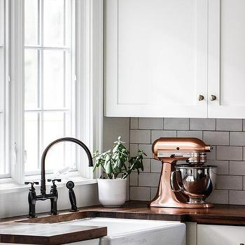 Farm House Kitchen Sink With Wood Countertops