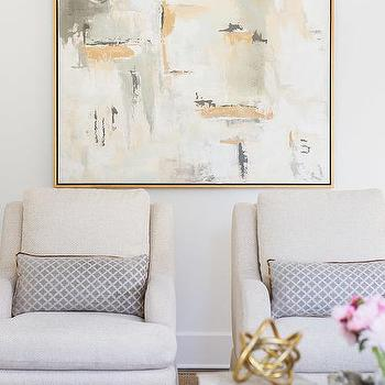 Gold And Gray Abstract Canvas Art Design Ideas