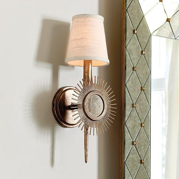 Gold Sunburst Wall Sconce