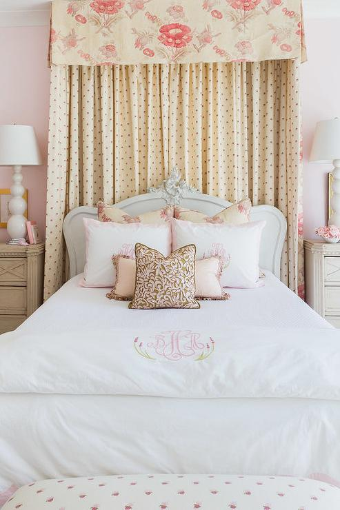 Alyssa Rosenheck: Curtain And Canopy Over Twin French Bed