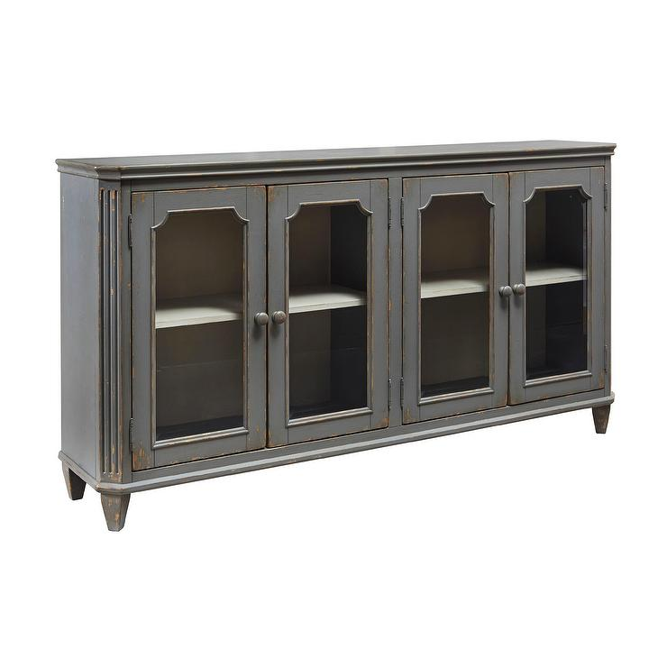Wonderful Antique Gray Accent Cabinet Credenza