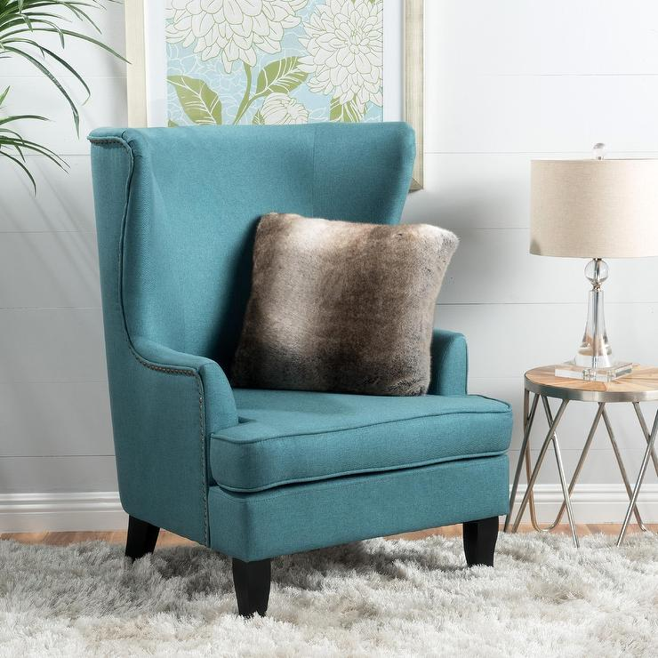 canterburry high back fabric wing chair