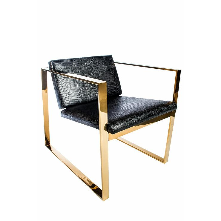 Phenomenal Philippe Gold Faux Leather Chair Creativecarmelina Interior Chair Design Creativecarmelinacom