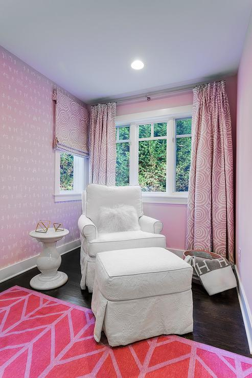 pink and purple girl bedroom color scheme transitional