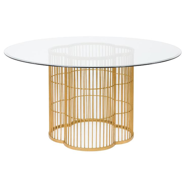 f76d90ccb2eb0d Noore Gold Leaf Glass Dining Table