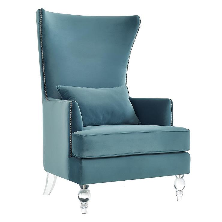 Very Evelyn Light Blue Barrel Chair BC97