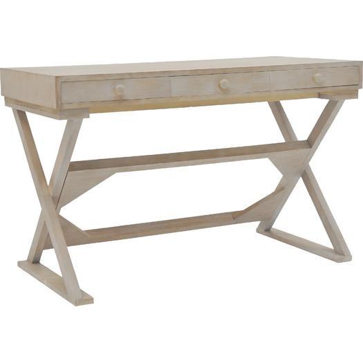 Weathered Wood Writing Desk