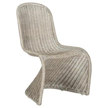 M Safavieh Tana Wicker Side Dining Chair