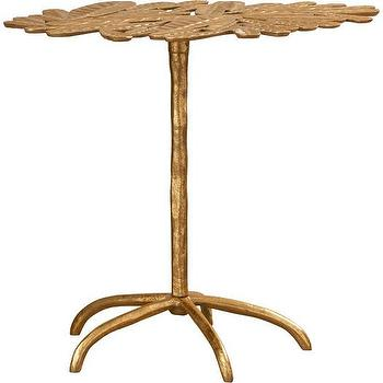 Cafar Gold Leaf Top End Table