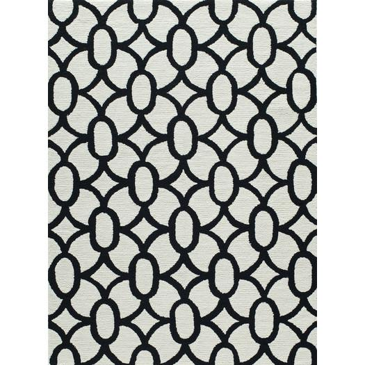 Frank Hand Hooked Grey Black Area Rug