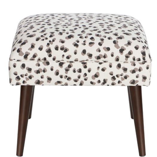 Terrific Neutral Snow Leopard Linen Ottoman Ncnpc Chair Design For Home Ncnpcorg