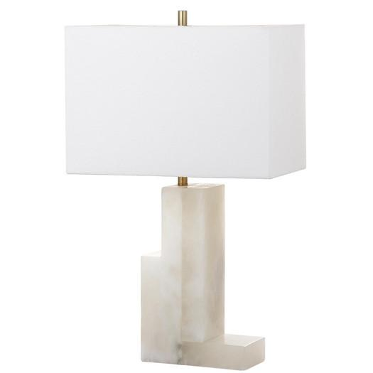 Bronze And White Marble Desk Lamp