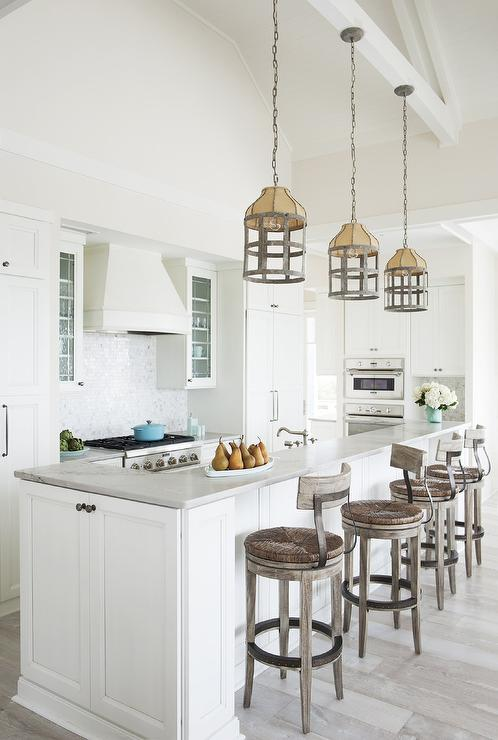 Wood And Iron Counter Stool Design Ideas