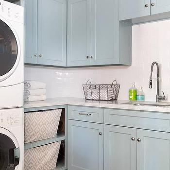 All White Laundry Rooms Design Ideas