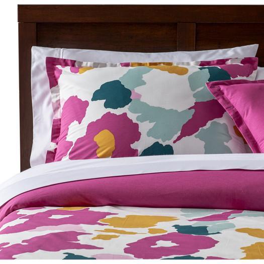 25b1f5095a1ae Aphrodite Pink Watercolor Reversible Comforter Set