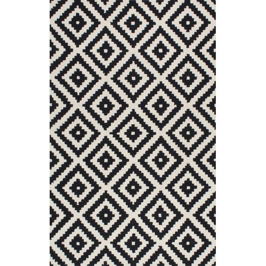 Obadiah Hand Tufted Black Cream Area Rug