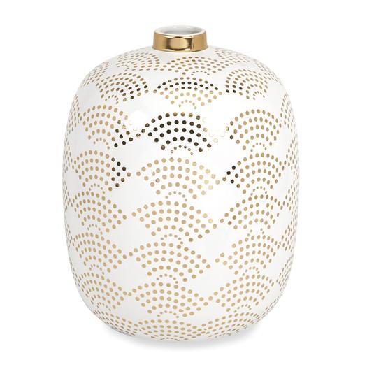 Mercury Row Gold White Vase