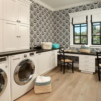 Laundry Interior Design Concept Ivory And Black Laundry Room Concept Design Ideas